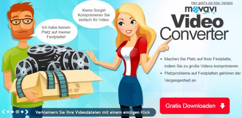 Screenshot Webseite movavi.de/videoconverter/ © Movavi